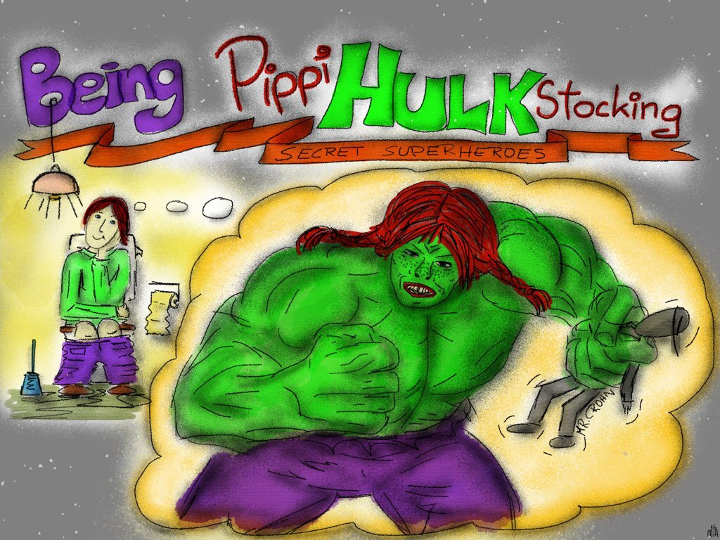 PippiHulkStocking - Being Pippi Hulk-Stocking