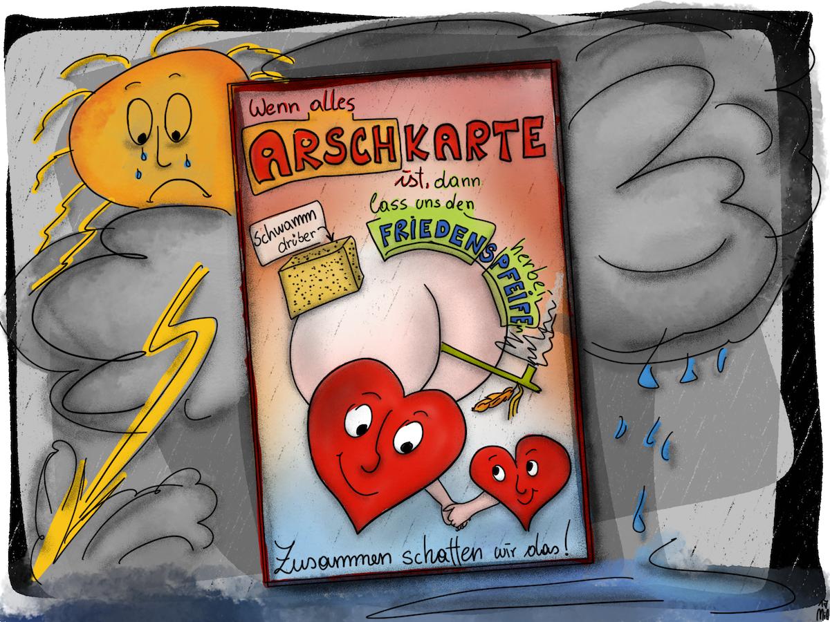 Arschkarte Crohn - Misanthrope Frustritis? Die Arschkarte hilft