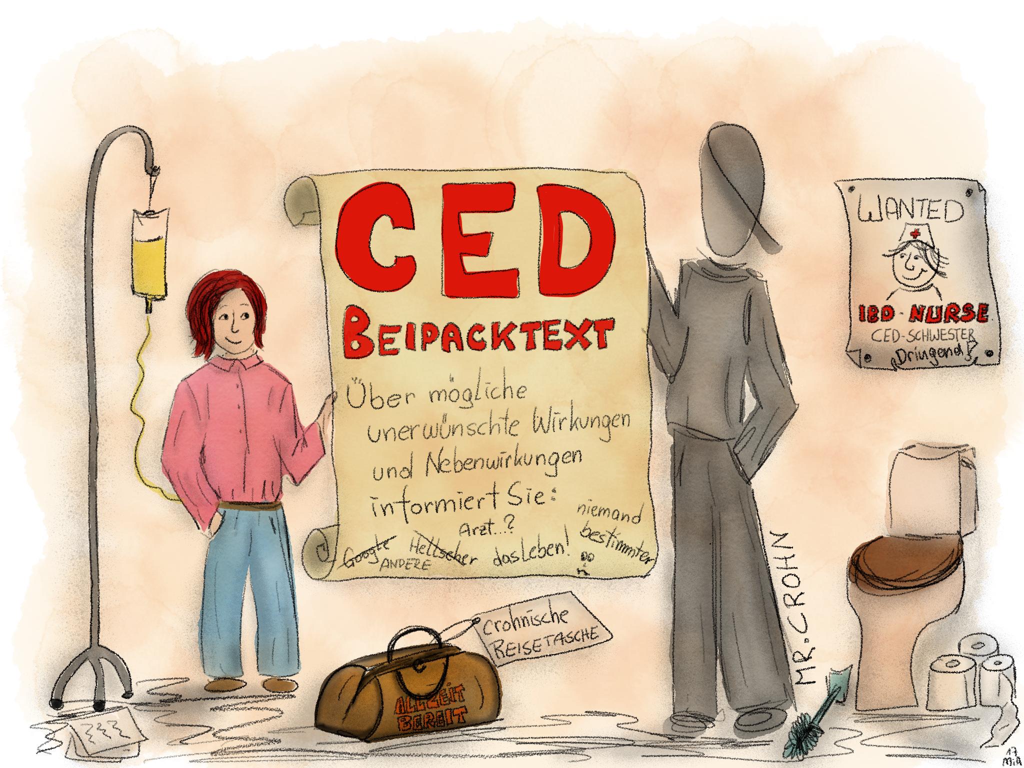 CED Beipacktext - Morbus Crohn: Über Risiken und unerwünschte Nebenwirkungen informiert Sie ...?