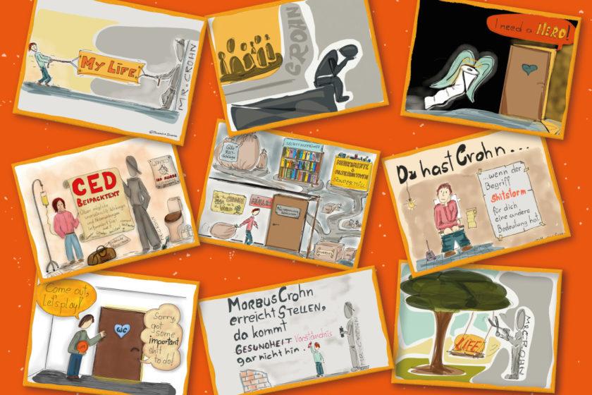 Collage 840x560 - Leben mit Morbus Crohn - 9 Tipps für Angehörige: Abschluss, Bücher & Links