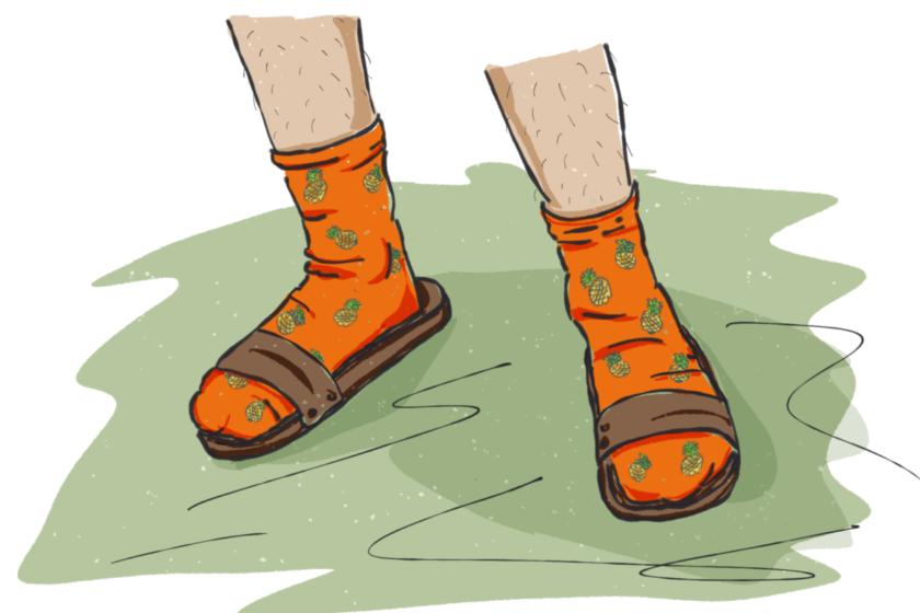 838743A5 CE5C 4417 9A18 74C9B59BBEF5 840x560 - Schräge G´schichten: Das ungeklärte Mysterium der orangen Ananas-Socken