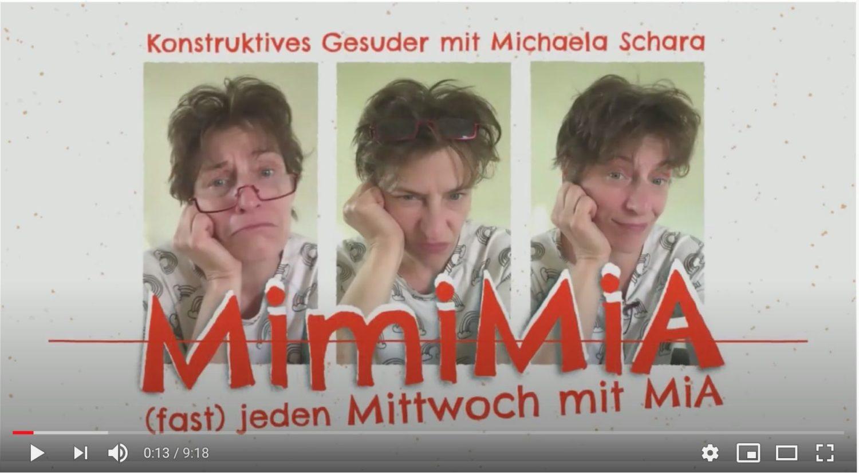 mimiMiA 00 YouTube - MimiMiA - Konstruktives Gesuder: (fast) jeden Mittwoch mit MiA