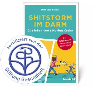 """Buch mitZertifikat - """"Shitstorm im Darm"""": zertifiziert und positiv bewertet!"""